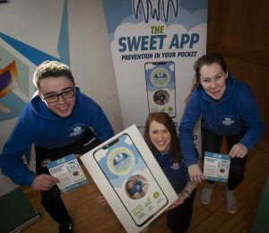 Pictured at the Old Library Trust on Friday last for the launch of the innovative new project aimed at tackling childhood obesity are Stephen McGahan, Project Facilitator, Julie White, Programme Manager and Kathleen McNaught, Project Facilitator.